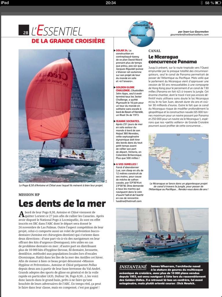 Articles Voiles et Voiliiers Aout 2013